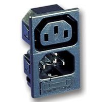 BULGIN PX0718/1/15/ST POWER ENTRY, PLUG & SOCKET, 15A, 250VAC (5 pieces)