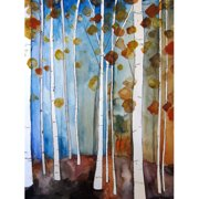 Mai Autumn Fall Leaves by Christine Lindstrom Painting Print