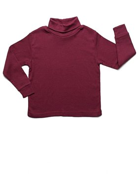 Leveret Solid Turtleneck 100% Cotton (2-14 Years)