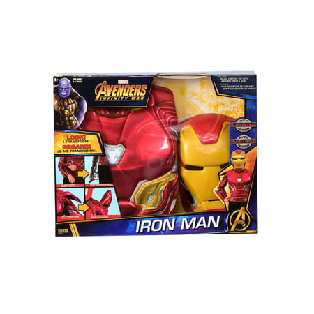 Deluxe Iron Man Flip N' Reveal Dress Up Halloween Costume Set