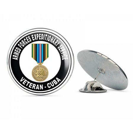 Armed Forces Expeditionary Medal Cuba Steel Metal 0.75