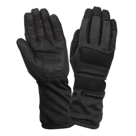 Rothco 4421 Fire Resistant Griplast Military Gloves, Black (Hipora Military Glove)