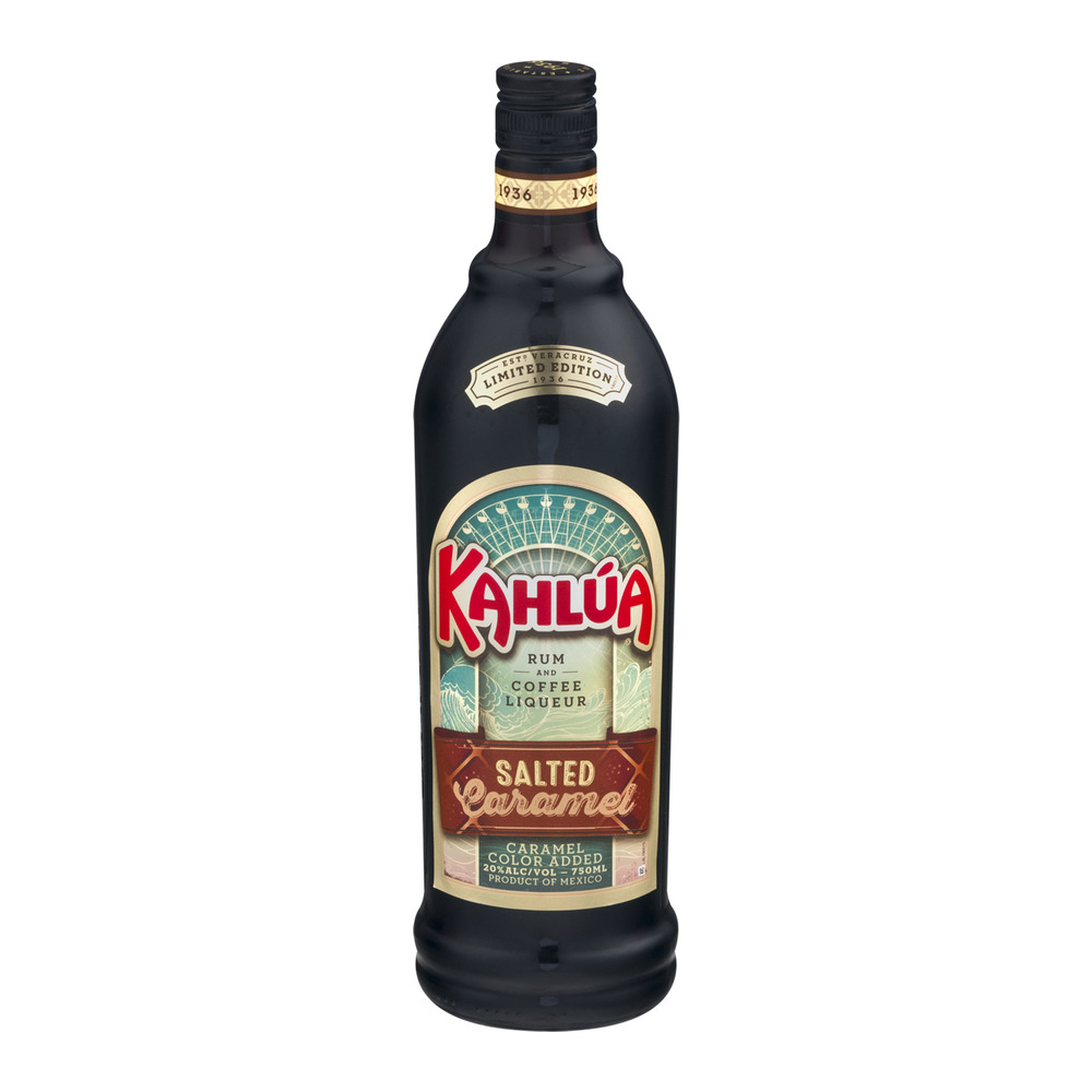 The Kahlua Company Kahlua Rum and Coffee Liqueur Salted Caramel Liqueur, 750 mL