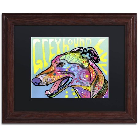 - Trademark Fine Art 'Greyhound Luv' Canvas Art by Dean Russo, Black Matte, Wood Frame