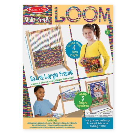 Triangle Weaving Loom (Melissa & Doug Wooden Multi-Craft Weaving Loom: Extra-Large Frame (22.75 x 16.5)