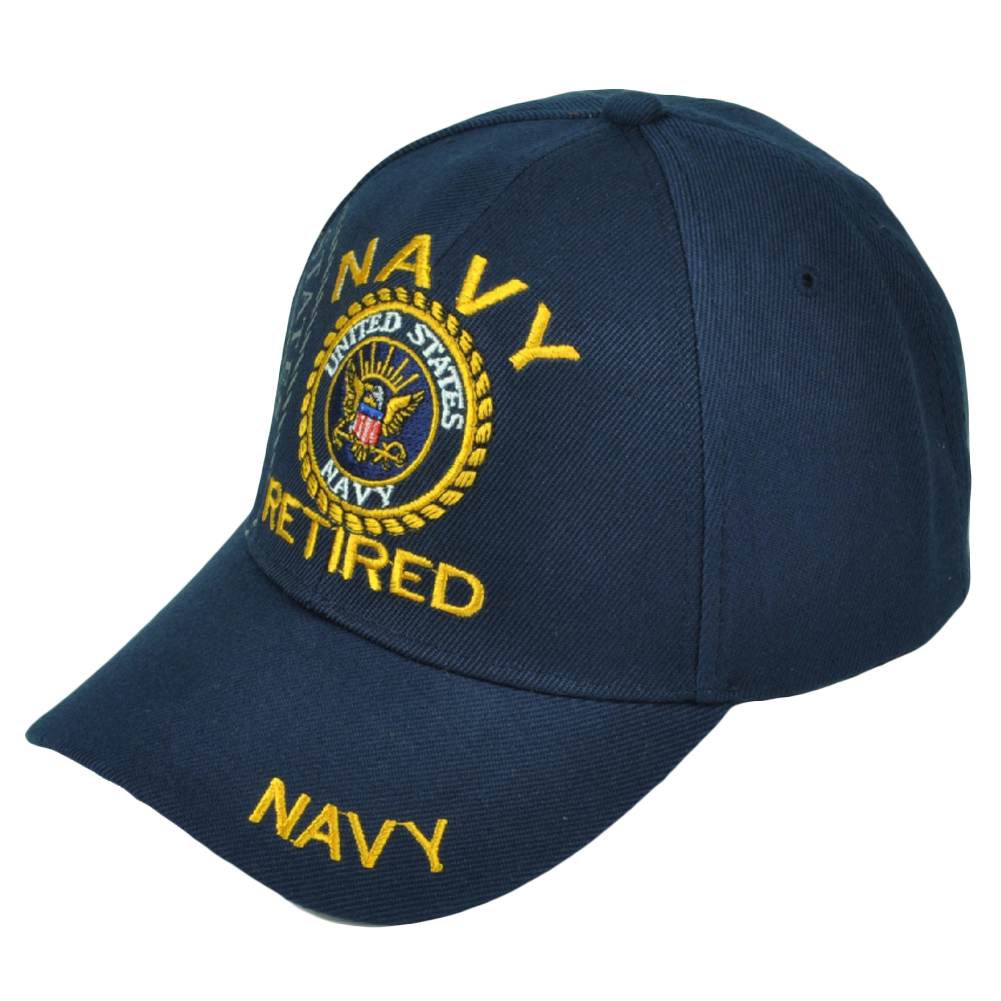 2827975ce98 ... inexpensive u.s navy retired military hat cap usn adjustable united  states forces blue a8b48 6375f