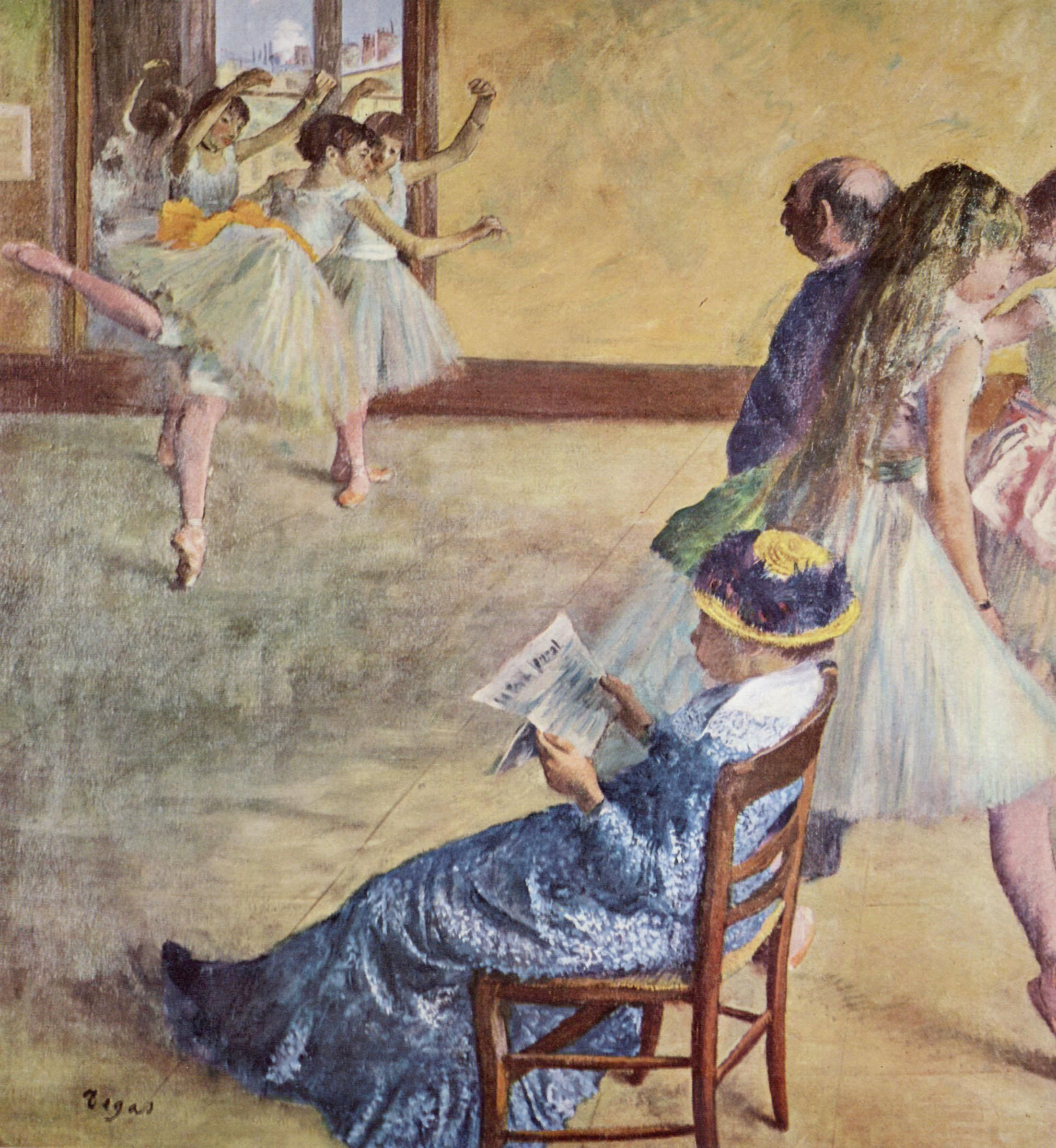 Framed Art for Your Wall Degas, Edgar Germain Hilaire - During the dance lessons 10 x 13 Frame