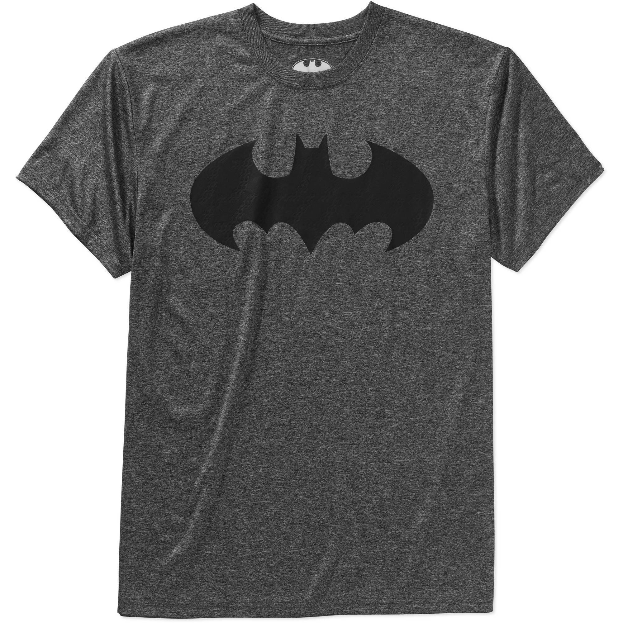 Batman logo cationic Big Men's poly graphic tee