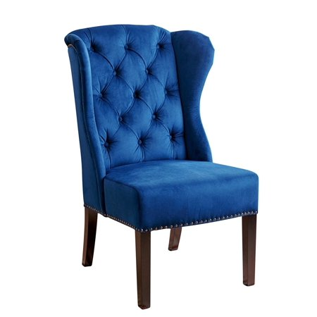 Abbyson Kyrra Tufted Velvet Wingback Dining Chair Navy Blue
