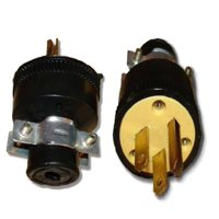 Wholesale 100 Pack Heavy Duty 3-Prong Male Electrical Plug Replacement 125V 15A