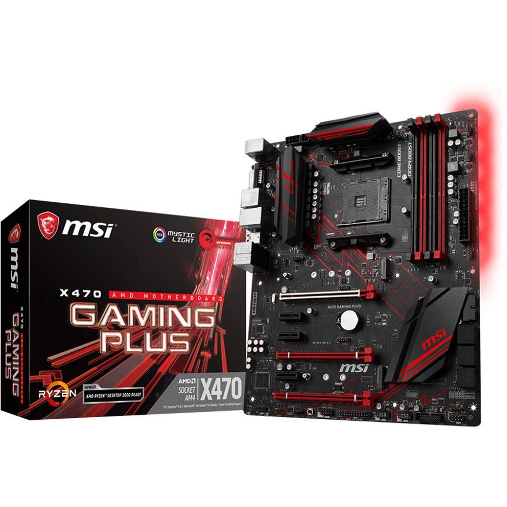 MSI Motherboard X470 GAMING PLUS - X470GPLUS