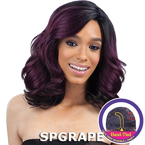 FreeTress Equal Lace Deep Diagonal Part Lace Front Wig - PETAL BLOSSOM (4 - Med Brn)
