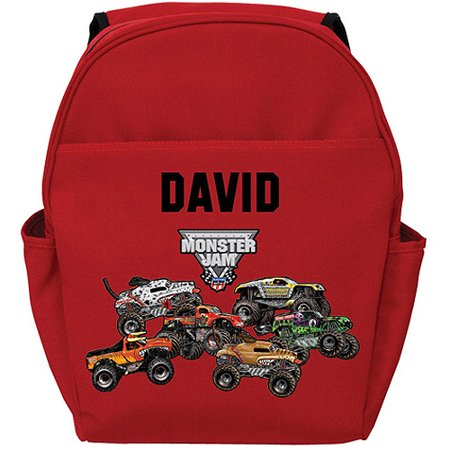 Personalized Monster Jam Red Backpack - Freestyle
