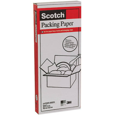 Scotch 8037S-DC 140-Count White Packing Paper