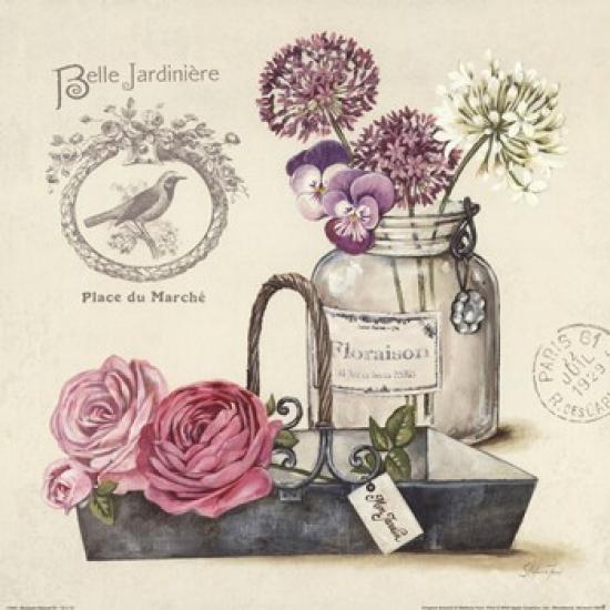 Bouquet Naturel IV Poster Print by Stefania Ferri (12 x 12)