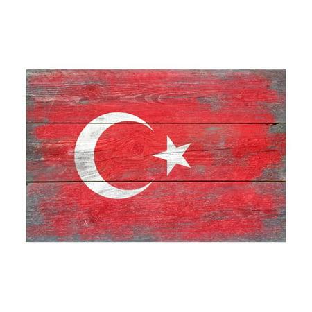 Turkey Country Flag - Barnwood Painting Print Wall Art By Lantern Press](Turkish Lanterns)