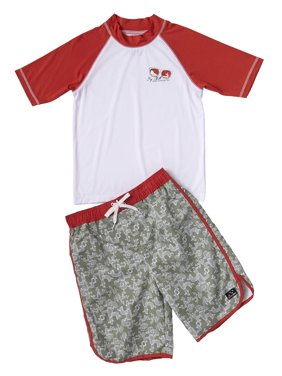 4f65b710beed2 Product Image Cactus Print Swim Trunk and Rash Guard, 2-Piece Outfit Set  (Little Boys