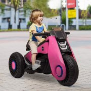 enyopro 3 Wheels Electric Bicycle, Kids Ride on Motorcycle, Double Drive Motocross, Toddler Motorized Motorcycle Bike, 6V/4.5Ah Power Wheels Dirt Bike for Boys and Girls, 3-7 Years Old - Pink, B1934