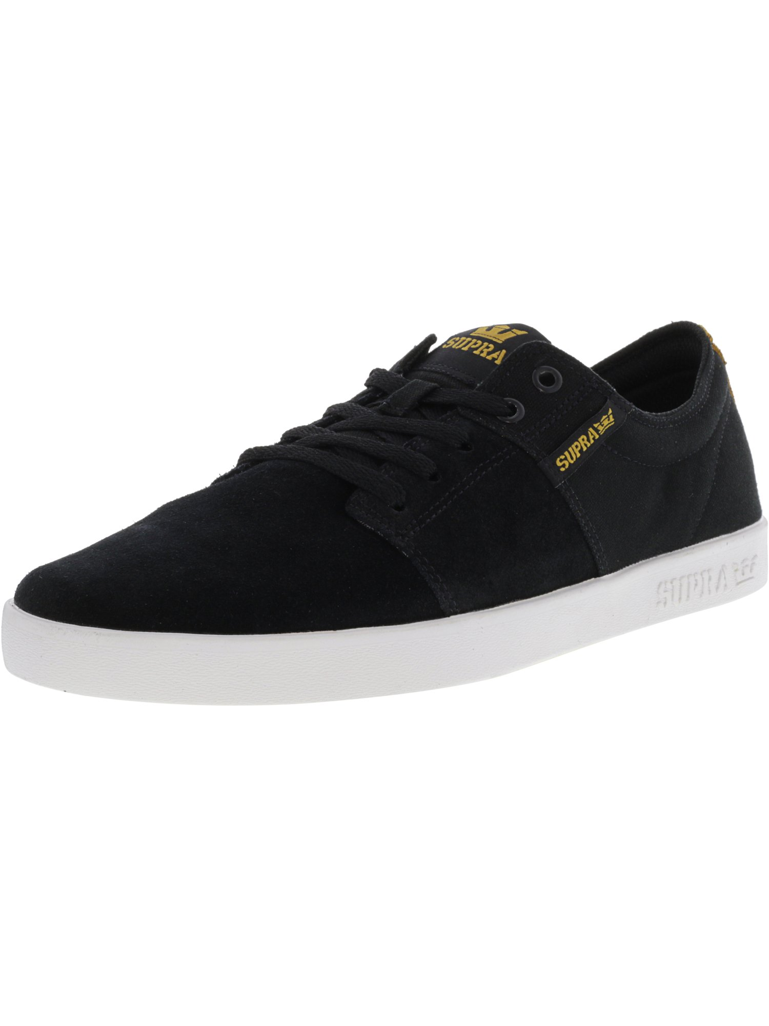 c28e6b06f557 SUPRA Mens Stacks II Canvas Low Top Lace Up Skateboarding Shoes