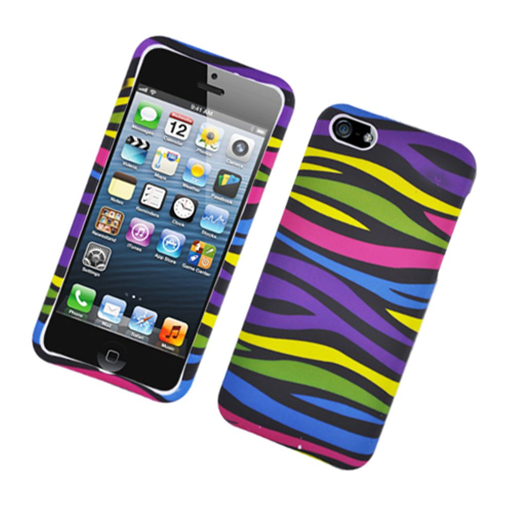 EagleCell Zebra Hard Rubber Coated Cover Case For Apple iPhone 5s / iPhone 5