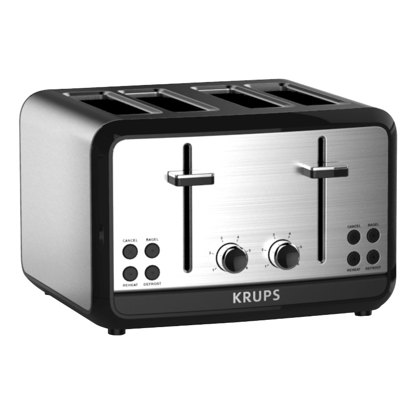 KRUPS, Savoy, KH314050, 4-Slice Toaster, Stainless Steel