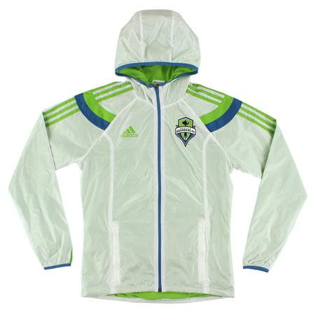 Adidas Mens Woven Anthem Windbreaker Jacket Green S
