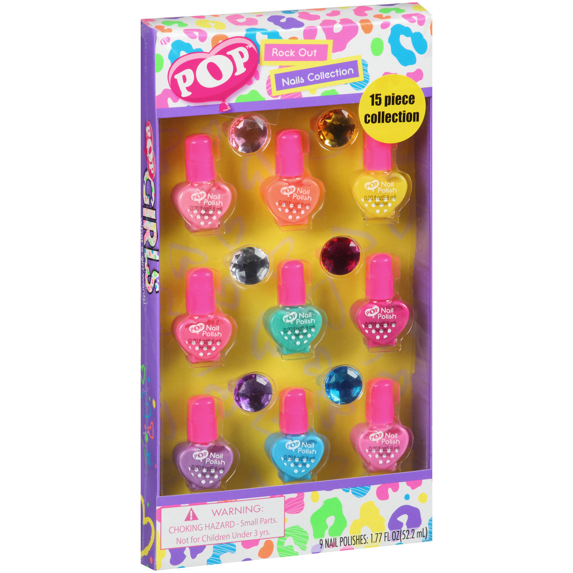 POP Rock Out Nails Collection Gift Set, 15 pc