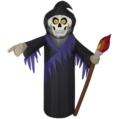 3.5' Airblown Reaper Halloween Inflatable (Giant Halloween Grim Reaper Inflatable Archway)