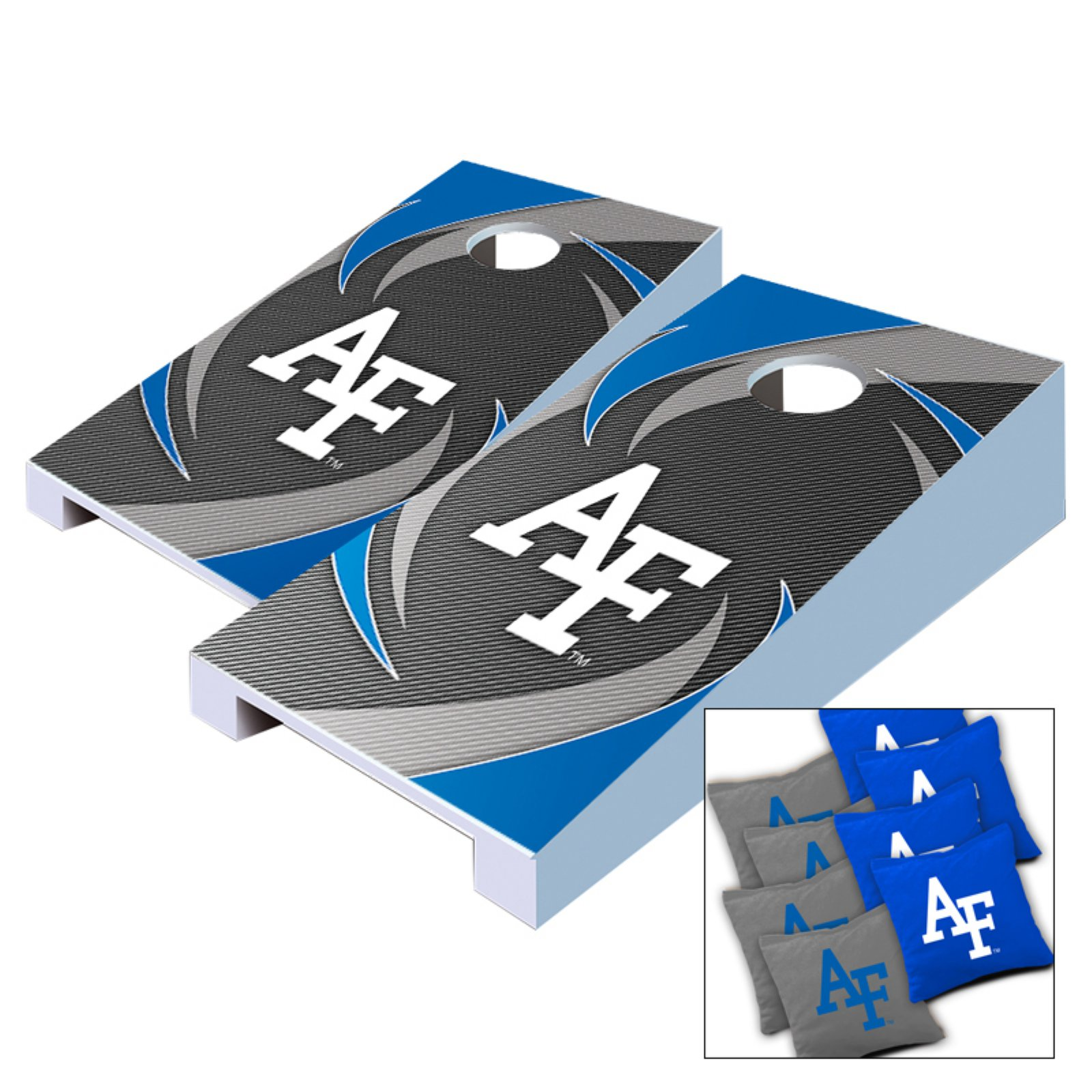 NCAA Air Force Falcons Swoosh Tabletop Cornhole Set by AJJ Cornhole