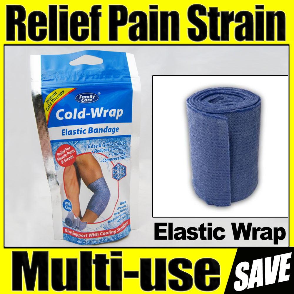 2 Pc Knee Brace Cold Wrap Relief Elastic Bandage Wrist Muscle Pain