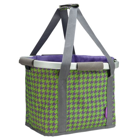 Schwinn Collapsible Handlebar Basket Purple (Schwinn Bicycle Basket)