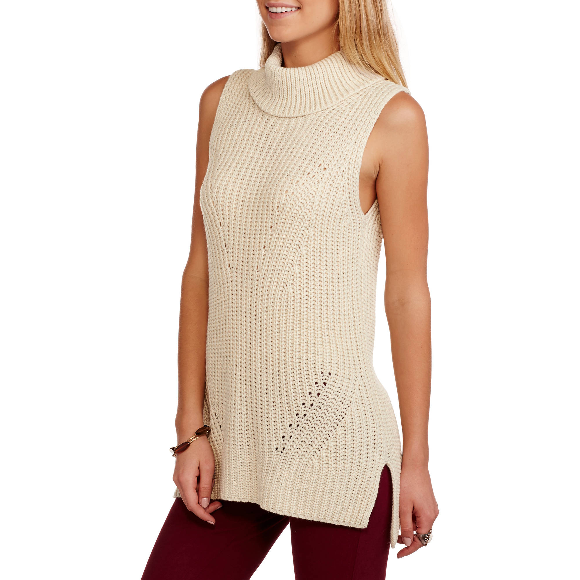 JPR Women's Sleeveless Cowl Neck Tunic Sweater
