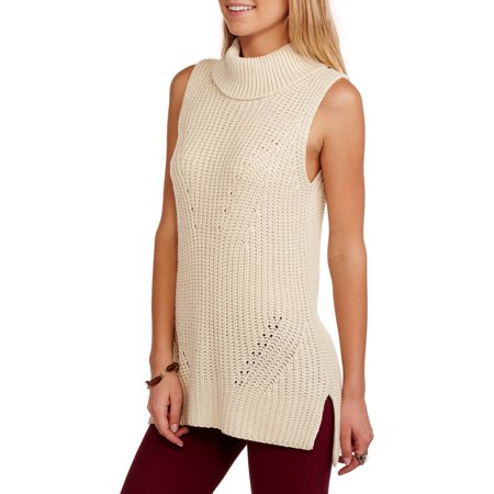 JPR Women's Sleeveless Cowl Neck Tunic Sweater - Walmart.com