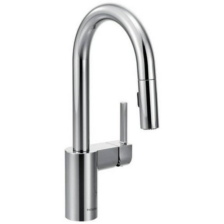 Moen 5965SRS Align Single Handle Bar Faucet with Pullout Spray, Available in Various Colors (Jado Bar Faucet)