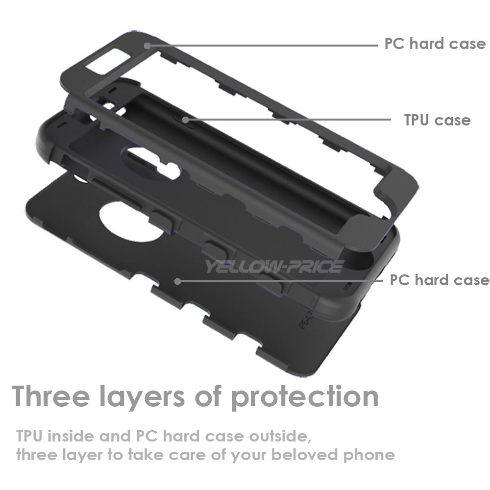 Hybrid Shockproof Rugged Rubber Hard Armor Case Cover for iPhone 6 6S 4.7inch - image 2 of 7