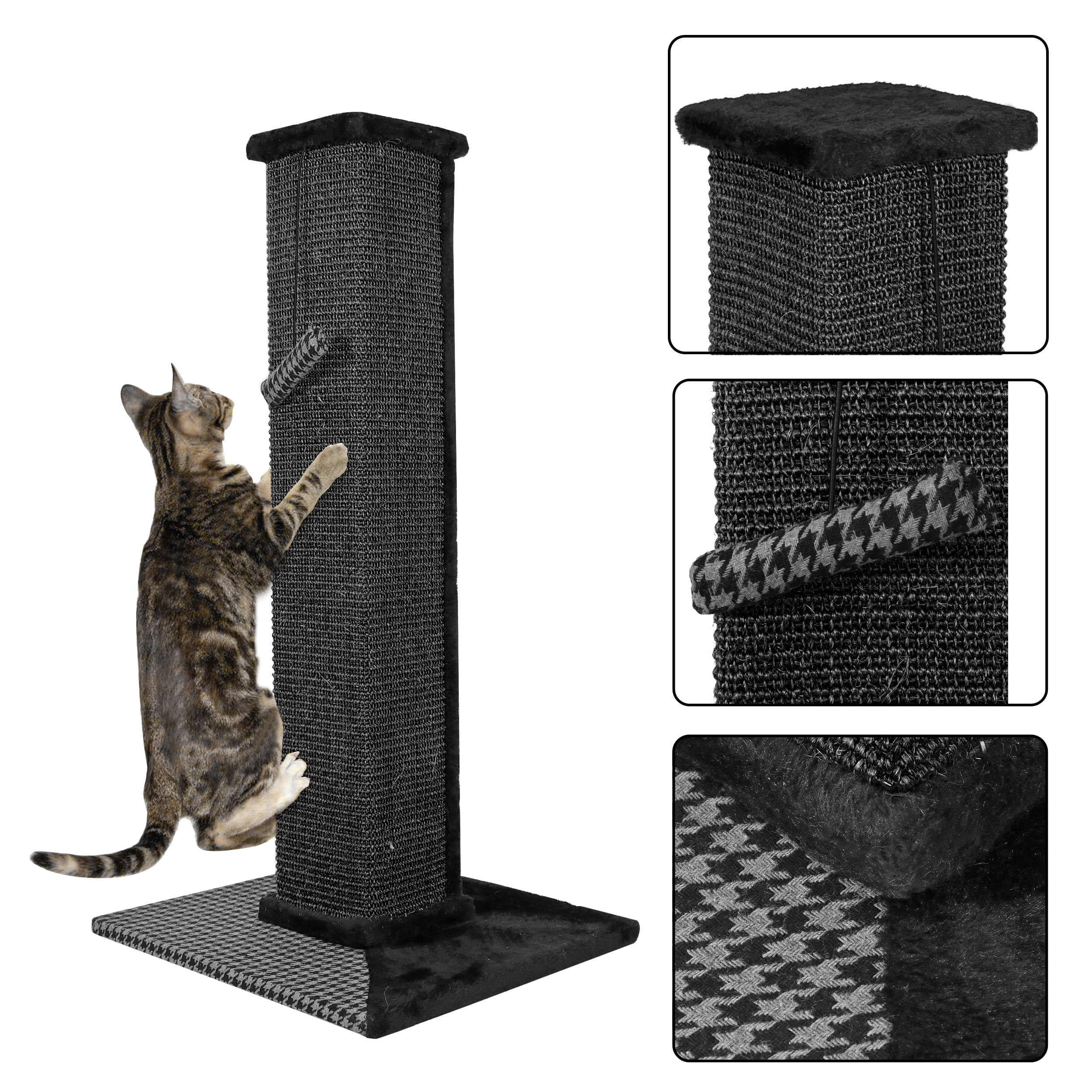 Cat Scratch Post Cats Kittens Plush Sisal Scratch Pole Cat Scratcher And Hammock 32 Inches Walmart Com Walmart Com