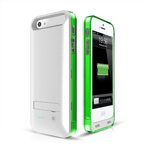 Unorth Llc AP5-30G Mfi 2400mah Green Extended Battcabl Case Apple Certified