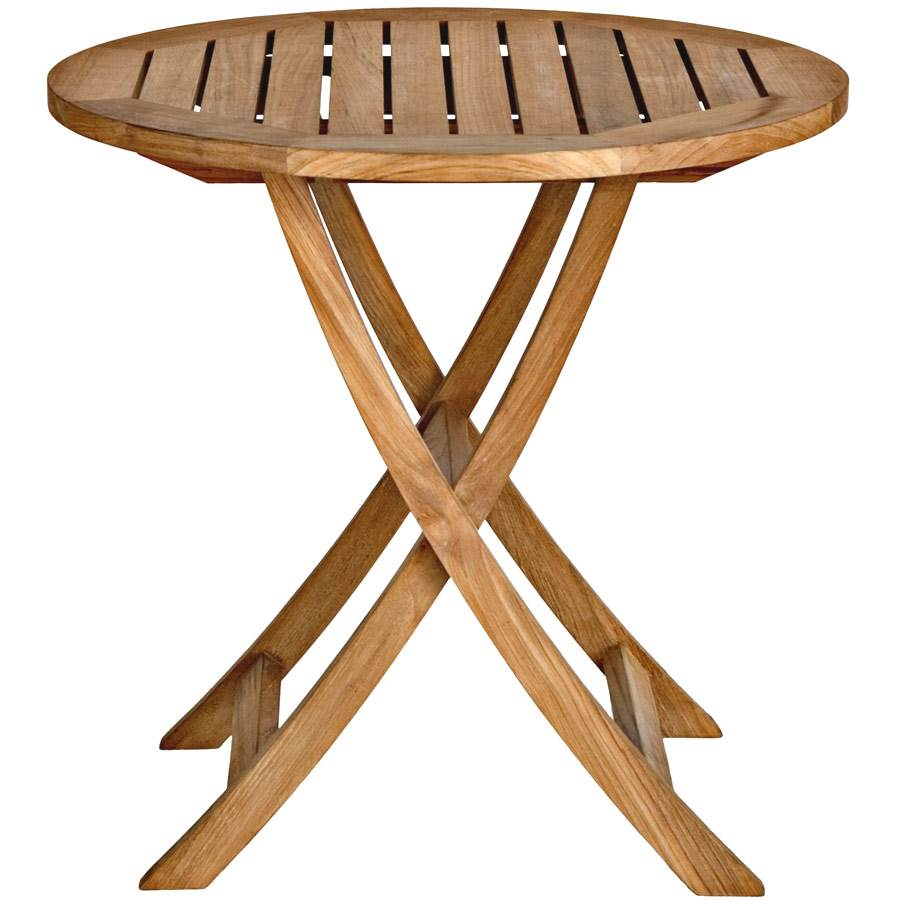 Round Top Teak Garden Table (30 in.)