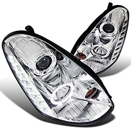 Spec-D Tuning LHP-G35054-TM Infiniti G35 sedan smd Led Halo Clear Projector Headlights