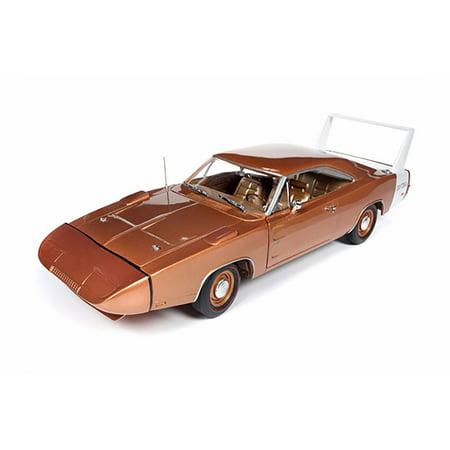 1969 Dodge Charger Daytona Hard Top, Metallic Bronze - Auto World AMM1168 - 1/18 scale Diecast Model Toy