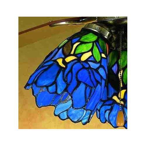Meyda Tiffany 27483 Stained Glass   Tiffany Fan Light Kit Glassware by Meyda Tiffany