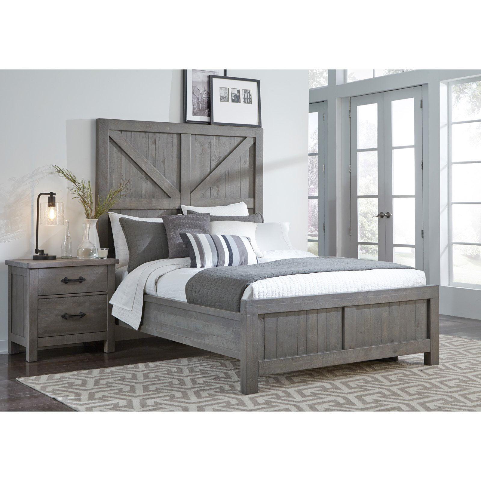 Modus Austin Barn Door Panel Bed by Overstock