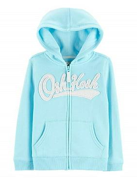 OshKosh B'Gosh Baby Girls' Full Zip Logo Hoodie