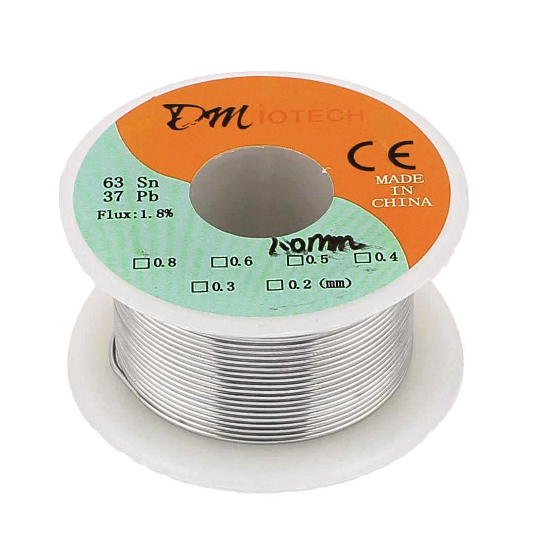 DMiotech 1mm 35G 63/37 Rosin Core Flux 1.8% Tin  Roll Soldering Solder Wire