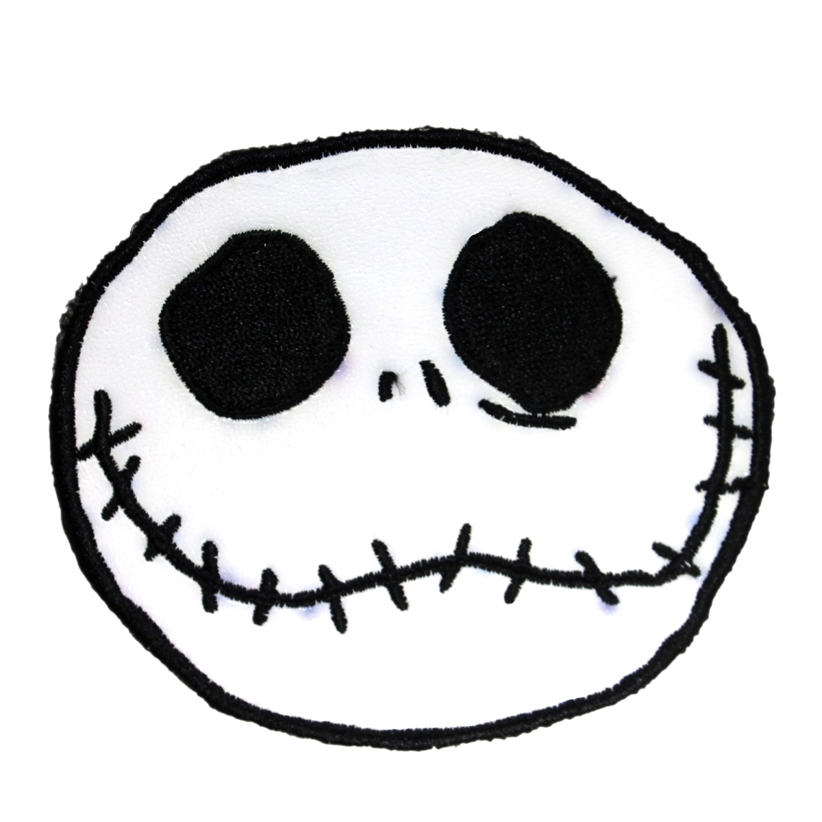 Pleather Jack Skellington Head Nightmare Before Christmas Disney Iron-On PVC Patch