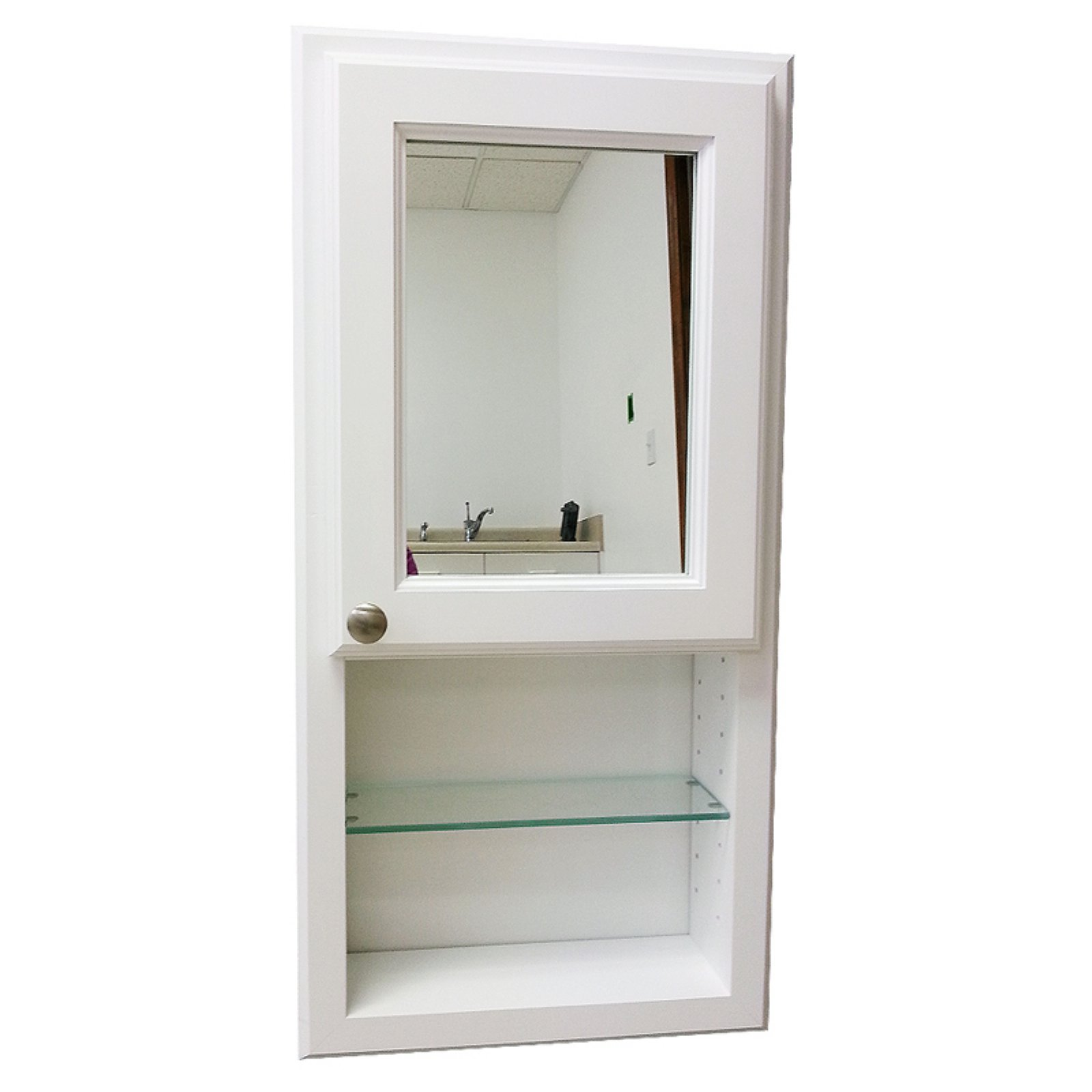 WG Wood Nash 15.5W x 37.5H in. Surface Mount Medicine Cabinet with Mirror Door by