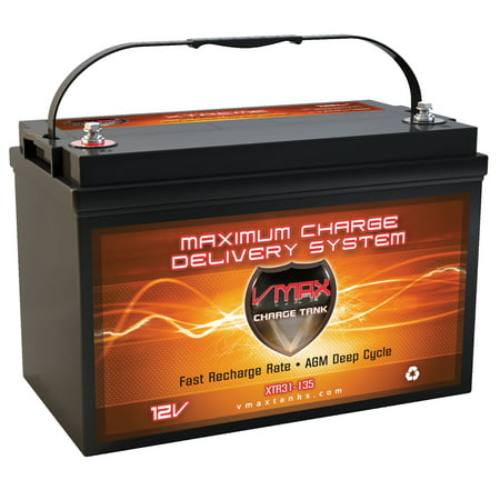 Deep Cycle Marine Battery Charger (VMAX XTR31-135 for HIGH END Pontoon group 31 AGM 12V marine deep cycle battery )