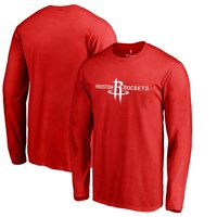 Houston Rockets Primary Logo Long Sleeve T-Shirt - Red