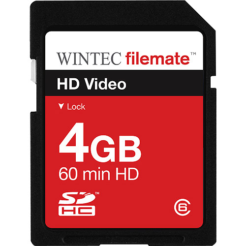 Wintec Filemate 4GB Class 6 SDHC Secure Digital Memory Card