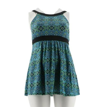 Fit 4 U Hi Neck Dresskini Swimsuit Brief A304230 Walmart Com